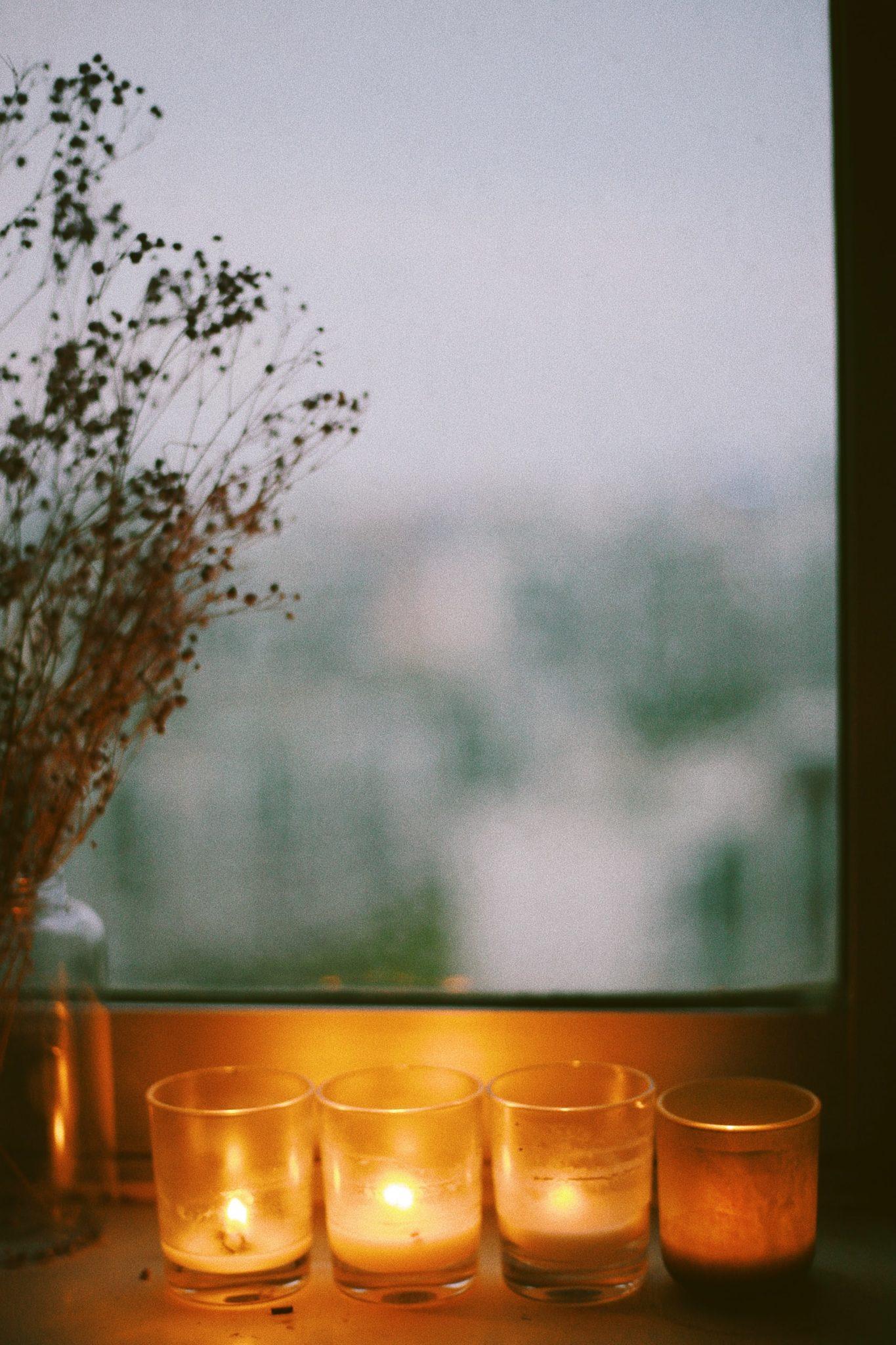 hôtel avec bougies